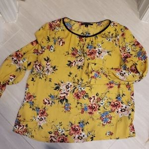 Zac and Rachel yellow floral blouse